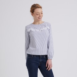 Pattern Eliane - Blouse - 34/48 (US/UK: 2/6, 16/20) - Intermediate
