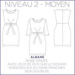 Pattern Albane - Dress - 34/48 (US/UK: 2/6, 16/20) - Intermediate