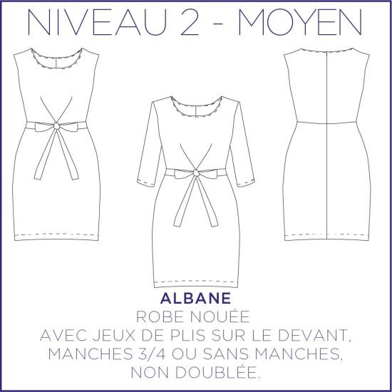 Patron Albane - Robe - 34/48 - Moyen