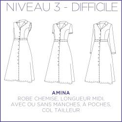 Patron Amina - Robe - 34/48 - Difficile