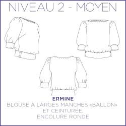 Patron Ermine - Blouse - 34/48 - Moyen