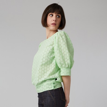 Pattern Ermine - Blouse - 34/48 (US/UK: 2/6, 16/20) - Intermediate