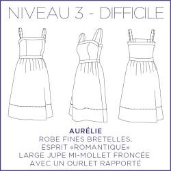 Patron Aurélie - Robe - 34/48 - Difficile