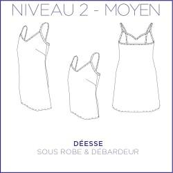 PDF Déesse - Sous robe & débardeur - 34/48 - Moyen