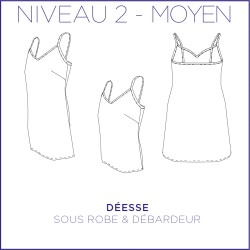 Pattern Deesse - Under dress & tank top - 34/48 (US/UK: 2/6, 16/20) - Intermediate