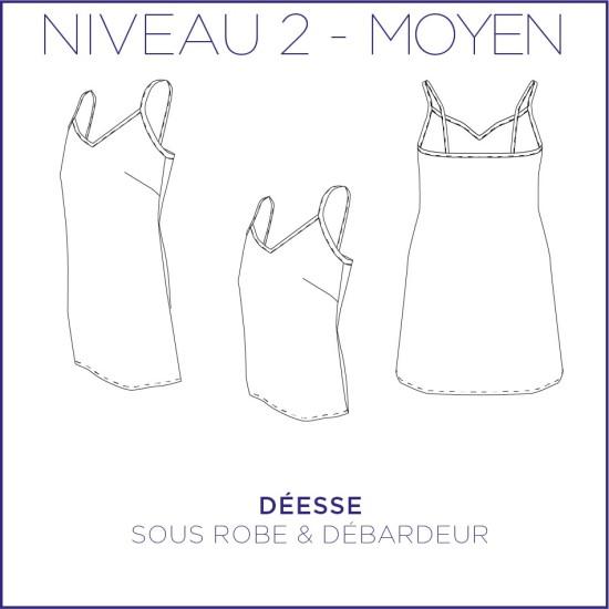 Patron Déesse - Sous robe & débardeur - 34/48 - Moyen