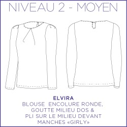 Pattern Elvira - Tunique - 34/48 (US/UK: 2/6, 16/20) - Intermediate