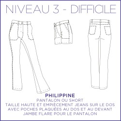 Pattern Philippine - Pants & shorts- 34/48 (US/UK: 2/6, 16/20) - Advanced