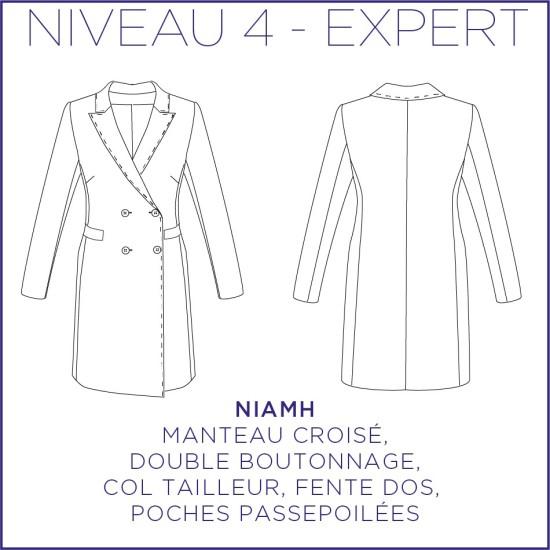 Pattern Niamh - Coat - 34/48 (US/UK: 2/6, 16/20) - Expert