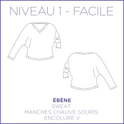 Patron Ebène - Sweat - S/XL - Facile