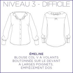 Patron Emeline - Blouse - 34/48 - Difficile