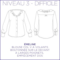 Pattern Emeline - Shirt - 34/48 (US/UK: 2/6, 16/20) - Advanced