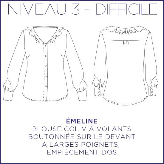 Pattern Emeline - Shirt - 34/48 (US/UK: 2/6, 16/20) - Advanced