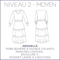 Patron Abigaelle - Robe - 34/48 - Moyen