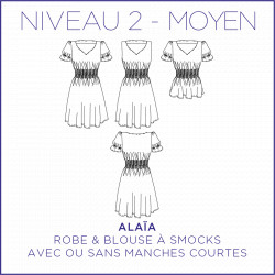 Pattern Alaïa - Dress & Blouse - 34/48 (US/UK: 2/6, 16/20) - Intermediate