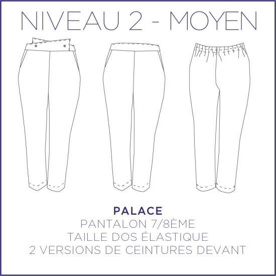 Patron Palace - Pantalon 7/8 - 34/48 - Facile
