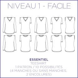Patron Essentiel - Teeshirt - S/XL - Facile