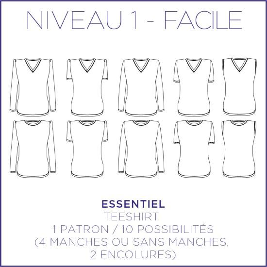 Pattern Essentiel - T-Shirt - S/XL - Facile