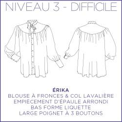 Patron Erika - Blouse - 34/48 - Difficile