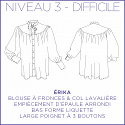 Pattern Erika - Shirt - 34/48 (US/UK: 2/6, 16/20) - Advanced