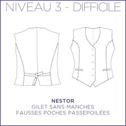 Patron Nestor - Gilet- 34/48 - Difficile